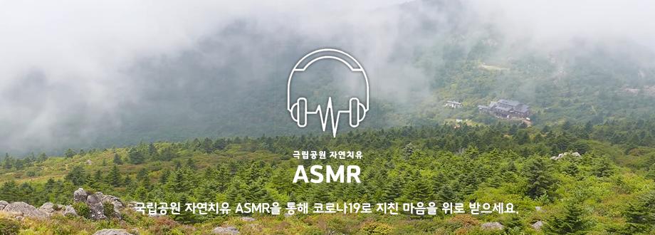 국립공원 자연치유 ASMR을 통해 코로나19로 지친 마음 위로 받으세요.