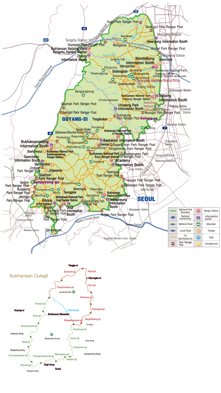 Bukhansan National Park map
