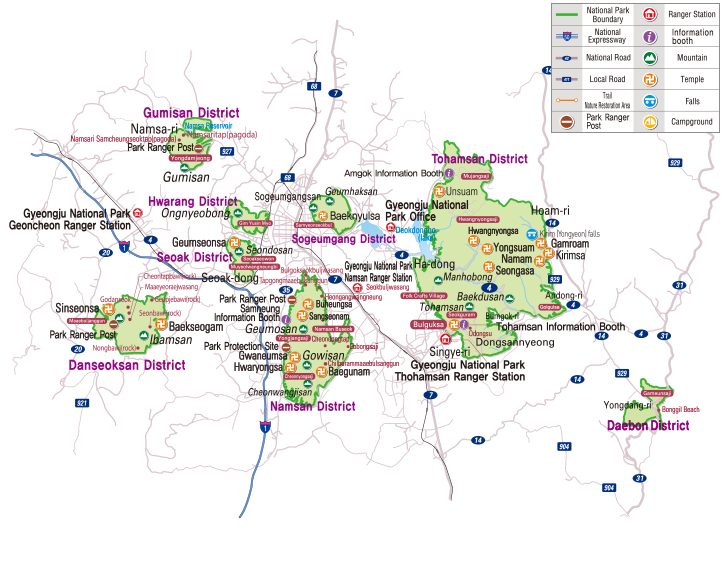 Gyeongju National Park map